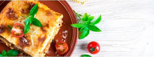 Лазанья с сыром и овощами